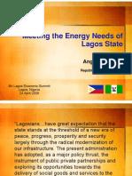Meeting Energy Demand in Lagos