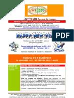 NOUVEL AN 2011-2012 A BUDAPEST EN HONGRIE, Package de voyage pour Groupes - Vers.A.