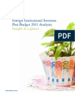Foreign Institutional Investors Post Budget Analysis