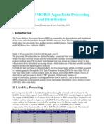 Overview of MODIS Aqua Data Processing and Distribution