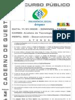 Concurso Público - CADERNO DE QUESTÕES - DATAPREV - Analista de Tecnologia da Informação - 2009