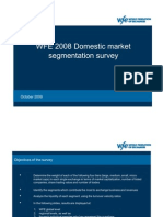 Market Segmentation Survey 2008