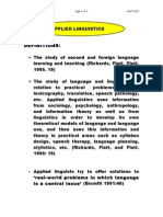 Applied Ling Definition Etc. 0706