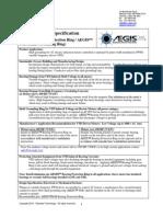 AEGIS Manufacturers Specification
