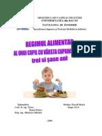 Proiect -Alimentatia Copilului Prescolar