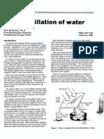 Solar Distillation of Water