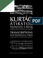 Bach - Transcriptions Kurtag 4 Mains