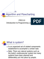 Algorithm and Flow Charting