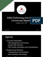 AISD Performing Arts Center Presentation 062111
