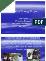 Fort Gratiot Final Alternative Energy Project