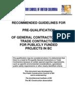 PCC Pre Qualification Guideline Sept06