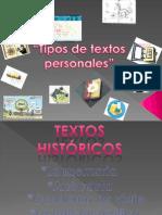 Textos personales-tipos