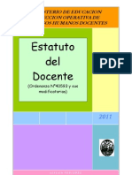 Estatuto docente 2011