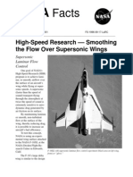 NASA Facts High-Speed Research-Smoothing the Flow Over Supersonic Wings