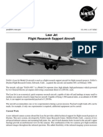 NASA Facts Lear Jet Flight Research Support Aircraft
