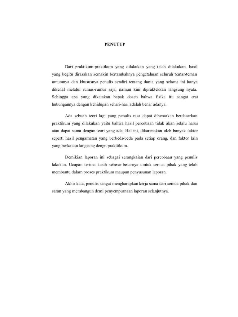 Contoh Kata Penutup Laporan Akhir Contoh Soal Dan Materi Pelajaran 1
