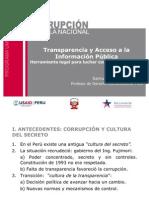 Ley de transparencia y principios del acceso a la información pública
