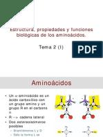 Aminoacidos Estructuras y Funcion