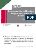 Problemas del servicio civil y rol de la autoridad del servicio público