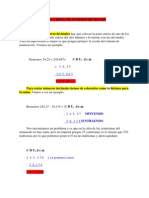 SUMA Y RESTA DE N+ÜMEROS DECIMALES