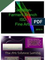 Fine Arts School Board Presentation 2011