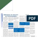Aplicações de soluções de Poliisocianatos