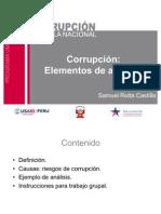 Corrupción. Elementos conceptuales