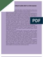 Diario de la observación del 7 y 8 de marzo