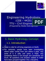 Introduction Hydrology