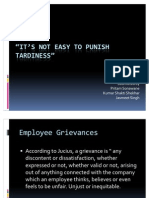 It's not easy to punish Tardiness