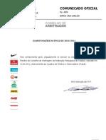 CO459 Classificacoes Arbitros Quadros Futsal 2010 2011