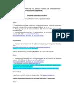 GUÍA PARA EL SUSTENTANTE DEL EXAMEN NACIONAL DE CONOCIMIENTOS Y HABILIDADES DOCENTES 2011 EDUCACIÓN ESPECIAL