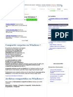 Compartir Archivos en Red en Windows 7.