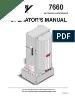HOTSY - 7660 Automatic Parts Washer (Operators Manual)