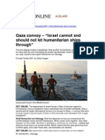 Gaza convoy – Legal Position