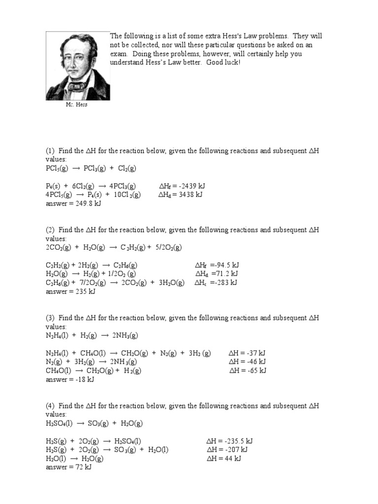 worksheet. Hess Law Worksheet. Grass Fedjp Worksheet Study Site