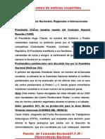 Resumen de Noticias Vesper Ti No 21-06-2011