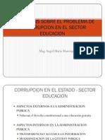 Análisis sobre el problema de la Corrupción en el sector Educación