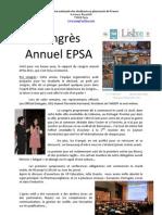 Rapport Congrès Lisbonne