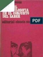 Gustavo Bueno, El Papel de La Filosofia en El Conjunto Del Saber
