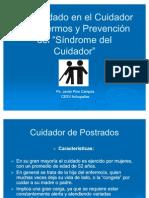 Autocuidado en el Cuidador de Enfermos y Prevención