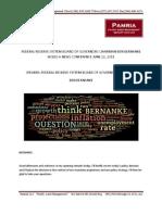 FOMC Speech Word Cloud