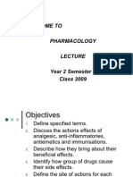 Pharmacology Lecture Yr 2 Sem1