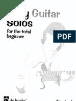 Easy Guitar Solos - For the Total Beginner
