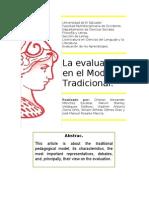 La evaluación en el Modelo Tradicional
