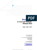IVT BlueSoleil 2.7.0.8 VoIP Release 070930 Release Note
