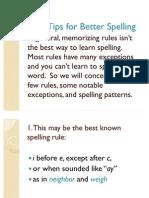 Ten Tips for Better Spelling