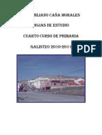 HOJAS DE ESTUDIO DE 4º DE PRIMARIA. GALISTEO 2010-2011