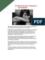 Ansiedad Sintomas Fisicos y Psicologicos