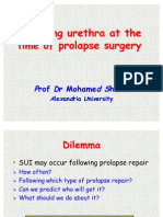 Managing Urethra at the Time of Prolapse Surgery